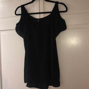Forever 21 black sheer blouse